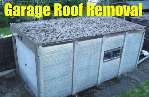 asbestos garage roof removal south london 020808802920Picture